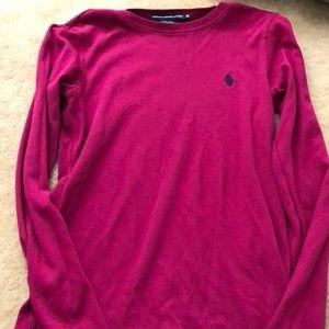 Fuchsia fitted Ralph Lauren Sport shirt
